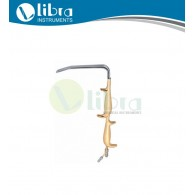 Tebbetts Breast Augmentation Retractor, With Double Handle and Smooth End, 18.5 cm