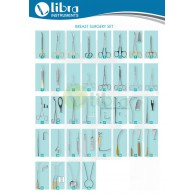BREAST SURGERY INSTRUMENTS SET OF 64 PIECES AND 41 ITEMS