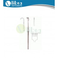 Tracheal Hook Retractor Blunt 4 Prongs, 14mm, 16cm