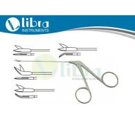 WULLSTEIN Micro Ear Scissors Tubular shaft, Tip 4 mm, sharp / sharp, 8 cm