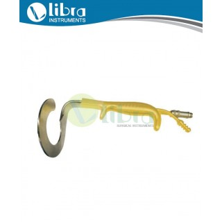 Ring Breast Retractor With Fiber Optic Illumination Light Guide And Irrigation Suction Tube